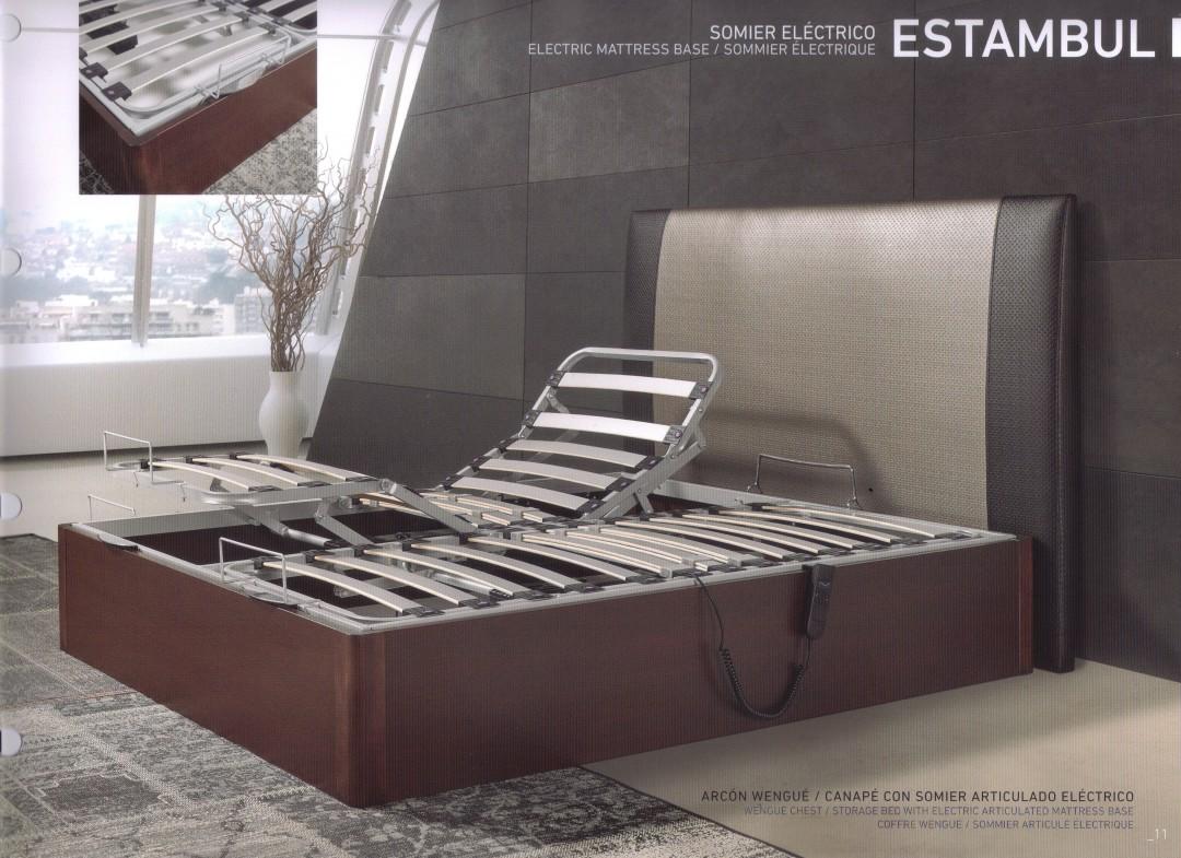 Canapé Estambul, con somier eléctrico